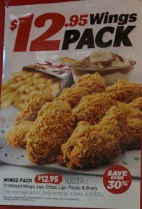 KFC Wings Pack