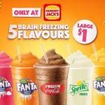 NEWS: Hungry Jack's $1 Large Frozen Flavours – Coke, Sprite, Fanta Creaming Soda, Mango & Orange