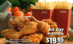 Kfc Meal Box ... KFC's long running family meal deals – the Streetwise Dinner Box