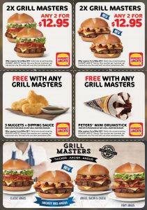 Hungry Jacks Grill Masters Vouchers
