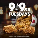 DEAL: KFC – 9 pieces for $9.95 Tuesdays