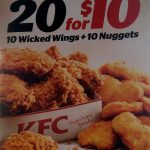 DEAL: KFC 20 for $10 (10 Wicked Wings & 10 Nuggets)