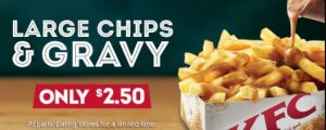 KFC Large Chips and Gravy