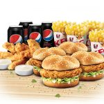 DEAL: KFC $29.95 Mates Burger Box (4 Burgers, 4 Regular Chips, 4 Drinks & 8 Tenders)