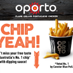 DEAL: Oporto SA – Free Chips Voucher (until 21 May)