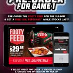 DEAL: Pizza Hut – Free 1.25L Drink with $29.95 Footy Feed on 31 May (State of Origin)