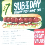 DEAL: Subway $7 Footlong Sub Of The Day
