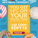 DEAL: Krispy Kreme – 18% off Online Orders (until 30 June)