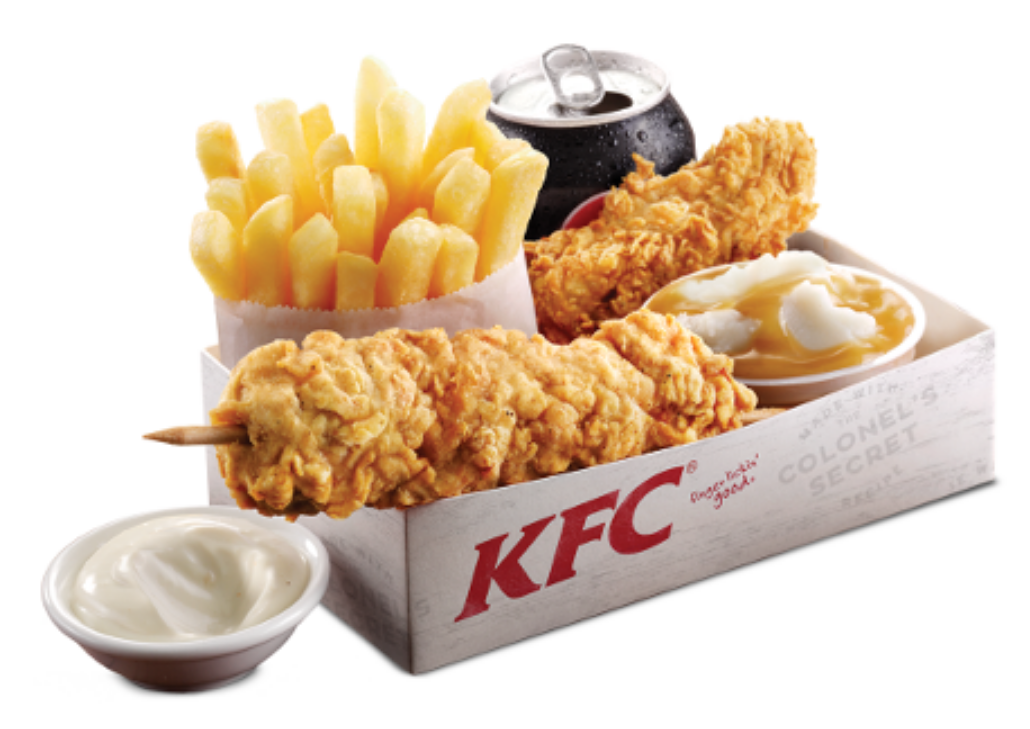 KFC adds a new, shorter version of their iconic bucket with the arrival of the $10 Chicken Share bucket starting Sunday, October 30, Meant to serve two people, the $10 Chicken Share bucket can come filled with a variety of options including: nine Extra Crispy Chicken Tenders; six pieces of.