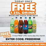 DEAL: Domino's Free 1.25L Drink with any pizza purchase (September 22)
