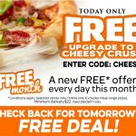 DEAL: Domino's Free Cheesy Crust Upgrade (October 12)