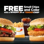 DEAL: Hungry Jack's Free Small Chips & Coke with a Whopper or Tendercrisp (starts 14 January)