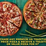 DEAL: Domino's – Buy One Traditional/Premium Pizza, Get One Traditional/Value Pizza for $1 (22 October 2020)