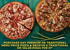 Deal Domino S Buy One Premium Traditional New Yorker Pizza Get One Traditional Value For 1 12 March 2020 Frugal Feeds