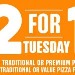 DEAL: Domino's 2 For 1 Tuesdays – Buy One Get One Free Pizzas at Participating Stores (19 January 2021)