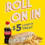 DEAL: Chicken Treat – $5 Chicken Roll, Chips & 250ml Coke No Sugar until 4pm