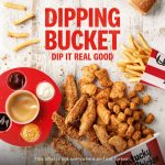NEWS: KFC $25.95 Dipping Bucket (12 Nuggets, 8 Tenders, Popcorn Chicken & more)