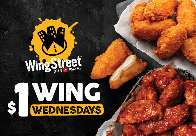 Deal Pizza Hut 1 Wings Wednesday 1 Large Pizza 2 Sides 14 Pickup More Frugal Feeds