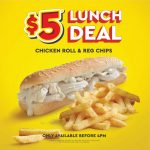 DEAL: Chicken Treat – $5 Chicken Roll & Regular Chips until 4pm