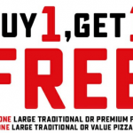 DEAL: Domino's – Buy One Traditional/Premium Pizza Get One Traditional/Value Free at Selected Stores (25 October 2020)