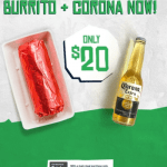 DEAL: Mad Mex – $20 Burrito & Corona + Free Delivery with No Minimum Spend via Menulog