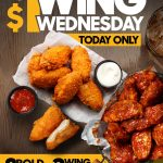 DEAL: Pizza Hut – $1 Wing Wednesday, 1 Large Pizza + 6 Wings + Drink $19.95 & More
