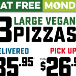DEAL: Domino's Meat Free Mondays – 3 Large Vegan Pizzas $26.95 Pickup / $35.95 Delivered