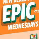 DEAL: 7-Eleven Epic Wednesdays – $1 Kinder Bueno Coconut/Banana Bread, $2 Ice Break/Twisties/Cadbury Choc Bags, $3 Sushi
