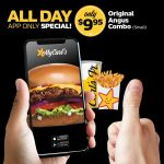DEAL: Carl's Jr App – $9.95 Original Angus Combo, 1 Small Fries (2-5pm), $2 Cheeseburger (2-5pm)