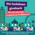 DEAL: Deliveroo – 20% off Orders over $30 at Participating Melbourne Restaurants