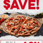 DEAL: Domino's – 40% off 3 Large Traditional & Premium Pizzas Pickup or Delivered (15 May 2021)