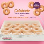 DEAL: Krispy Kreme – Free Original Glazed Dozen for Birthdays from 13 March to 13 July