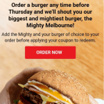 DEAL: Grill'd – Free Mighty Melbourne Burger with Burger or Salad Purchase for Relish Members (VIC only)