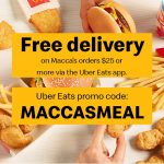 DEAL: McDonald's – Free Delivery on Orders over $25 via Uber Eats (31 July-2 August 2020)