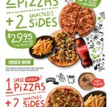 DEAL: Crust – 1 Large Classic Pizza + 2 Selected Sides $19.95 Pickup / 2 Large Classic Pizzas + 2 Selected Sides $29.95 Pickup or $34.95 Delivered