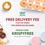 DEAL: Krispy Kreme – Free Delivery with $25+ Spend via Uber Eats & Menulog (VIC Only)