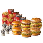 DEAL: McDonald's $39.95 Family Box (4 Large Burgers, 2 Small Burgers, 4 Medium Fries, 10 Nuggets, 4 Soft Drinks, 4 Desserts)
