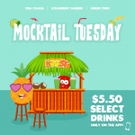 DEAL: Boost Juice – $5.50 Mocktail Tuesday – Pina Colada, Strawberry Daiquiri & Ginger Tonic (22 September 2020)