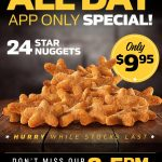 DEAL: Carl's Jr App – 24 Star Nuggets for $9.95, $4 Veggie Star (2-5pm), $2 Cheeseburger (2-5pm)