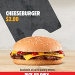 DEAL: Hungry Jack's App – $2 Cheeseburger (until 26 October 2020)