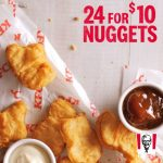 DEAL: KFC – 24 Nuggets for $10 (until 17 May 2021)