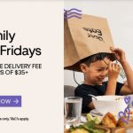 DEAL: Uber Eats Family Freebie Fridays – Free Item or Free Delivery at Participating Restaurants with $35 Spend