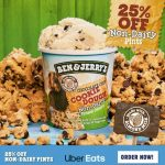 DEAL: Ben & Jerry's – 25% off Non-Dairy Pints via Uber Eats