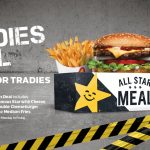 DEAL: Carl's Jr – $12.95 Tradies Deal on Mondays-Fridays (Famous Star with Cheese, Double Cheeseburger + Medium Fries)