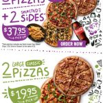 DEAL: Crust –  2 Large Classic Pizzas $19.95 Pickup, 3 Large Classic Pizzas + 2 Selected Sides $37.95 Pickup / $42.95 Delivered
