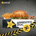 DEAL: Carl's Jr – $9.95 Apprentice Deal on Mondays-Fridays (Chicken Fillet Burger, Small Fries, Cookie)