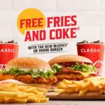 DEAL: McDonald's – Free Small Fries and Coke with McSpicy Burger or Parmi Burger Purchase