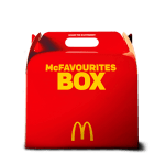 DEAL: McDonald's – $32.95 Family McFavourites Box (4 Burgers, 4 Medium Fries, 10 Nuggets, 4 Soft Drinks)
