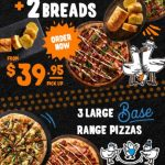 DEAL: Pizza Capers – 3 Large Base Pizzas $34.95 Pickup, 2 Large Capers Collection Pizzas + 2 Breads $39.95 Pickup