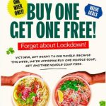 DEAL: Roll'd – Buy One Get One Free Noodle Soups via Website or App (VIC Only)